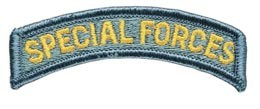 Special Forces Tab Full Color Army Patch