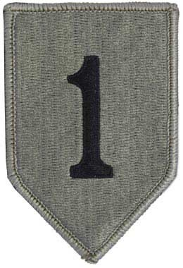 1st Infantry Division ACU Patch with Fastener Army Patch