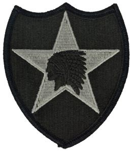 2nd Infantry Division ACU Patch with Fastener Army Patch