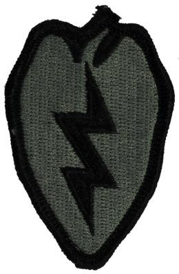 25th Infantry Division ACU Patch with Fastener Army Patch