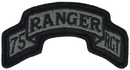 75th Ranger Regt Headquarters Scroll ACU Patch with Fastener Army Patch