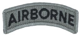 Airborne Tab, ACU with Fastener Army Patch