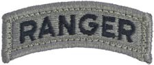 ACU Ranger Tab  with Fastener Army Patch