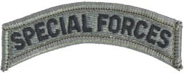 ACU Special Forces Tab with Fastener Army Patch