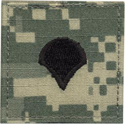 ACU Rank Specialist Four E-4 with Fastener Army Patch