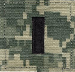 ACU Rank First Lieutenant with Fastener Army Patch