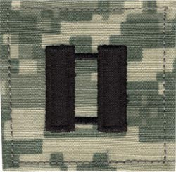 ACU Rank Captain with Fastener Army Patch