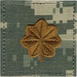 ACU Rank Major with Fastener Army Patch