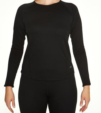 Terramar Women's Black Authentic 2 Layer Base Layer Top- W8282