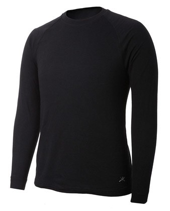 Terramar Men's Black Two Layer Authentic Thermal Top- W8359