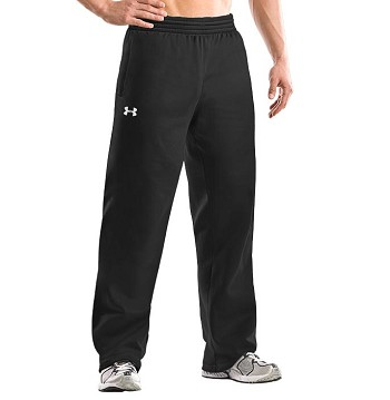 Under Armour Open Bottom Team Black Fleece Pants