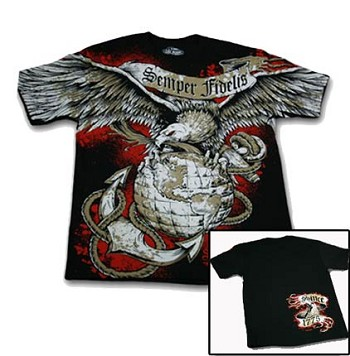 Semper Fidelis T-Shirt by 7.62 Design