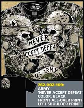 Army 'Never Accept Defeat' T-Shirt