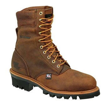 Thorogood 8-inch Logger Waterproof Insulated Steel Toe Work Boots - 804-3550