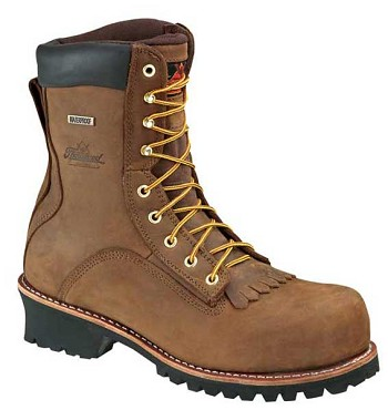 Thorogood Logger 8-inch Waterproof Oblique Safety Toe Work Boot - 804-3556