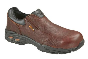Thorogood Brown Slip-On Safety Toe Work Shoes - 804-4061