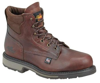 Thorogood American Heritage 6-inch Dark Brown Steel Toe Work Boots - 804-4203