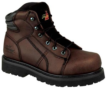 Thorogood 6-inch Brown Lace to Toe Semi Oblique Steel Toe Boots - 804-4650