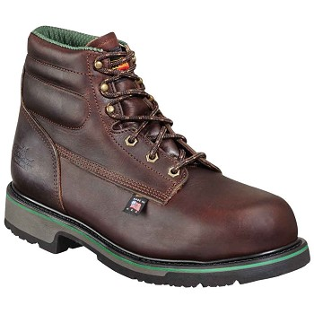 Thorogood Sport 6-inch Brown Plain Toe Steel Toe Work Boots - 804-4711