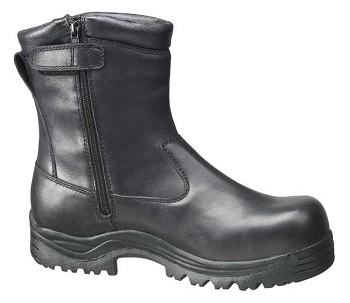 Thorogood 8-inch Side Zip Oblique Composite Safety Toe Black Waterproof Boots - 804-6032