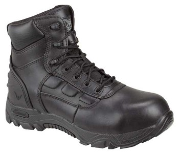 Thorogood 6-inch Lace up Composite Safety Toe Black Uniform Boots - 804-6086
