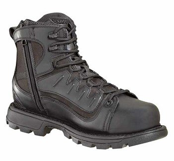 Thorogood 6-inch Tactical Side Zip Waterproof Composite Safety Toe Black Uniform Boots - 804-6447