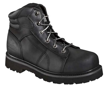 Thorogood 6-inch Black Lace to Toe Semi Oblique Steel Toe Boots - 804-6450