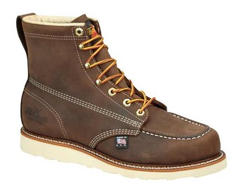Thorogood 6-inch Dirty Brown Moc Toe Wedge Sole Work Boots - 814-4203