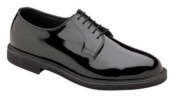 Thorogood Poromeric Black Oxford Uniform Shoes - 831-6803