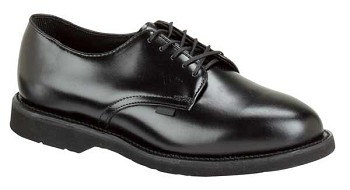 Thorogood Classic Leather Black Oxford Uniform Shoes - 834-6027