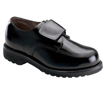 Thorogood Black High Gloss Velcro Uniform Shoes - 834-6051