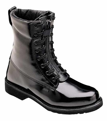 Thorogood 8-inch Front Zip Black Uniform Boots - 834-6111