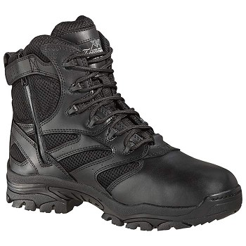 Thorogood 6-inch Side Zip Black Waterproof Uniform Boots - 834-6218