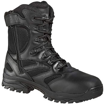 Thorogood 8-inch Side Zip Black Waterproof Uniform Boots - 834-6219