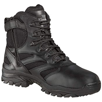 Thorogood 6-inch Side Zip Black Uniform Boots - 834-6290