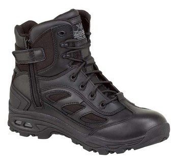 Thorogood 6-inch Waterproof Side Zip Black Uniform Boots - 834-6238