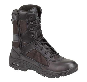 Thorogood 8-inch VGS Side Zip Black Uniform Boots - 834-6330