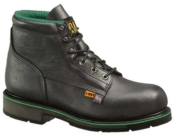 Thorogood I-Met 6-inch Black Leather Metatarsal Guard Work Boots - 804-6511