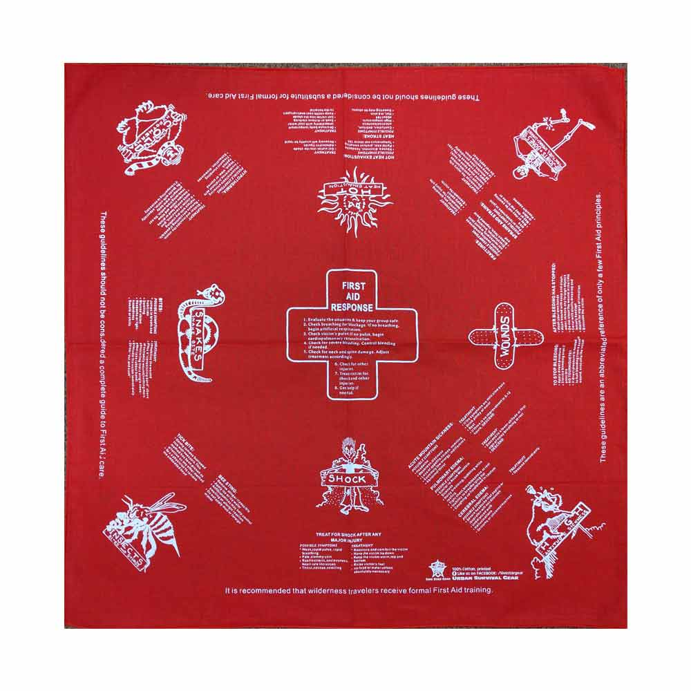 5ive Star Printed First Aid Instructions Bandana