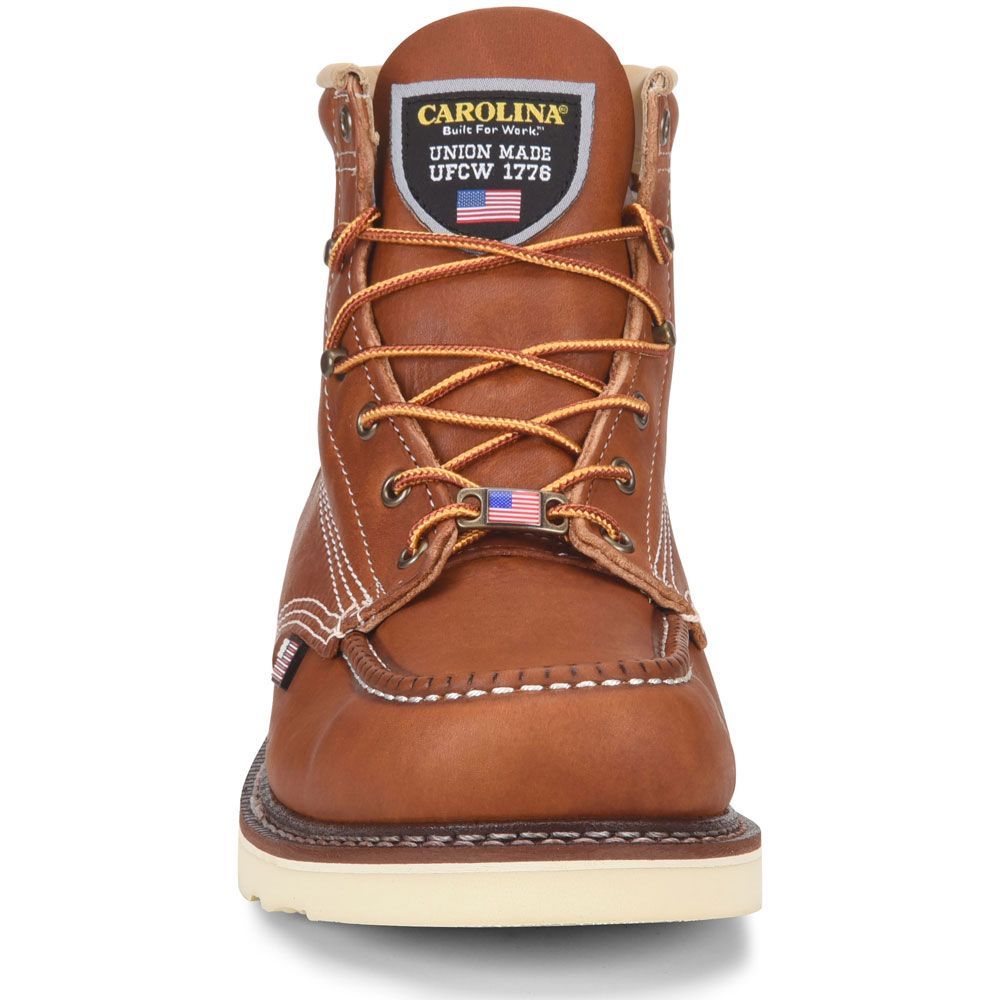 975dde5f8b2 Carolina Amp USA Men's 6-Inch Moc Toe Wedge Work Boot - Made in the USA