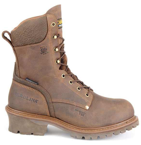 Carolina 8 Inch Brown Composite Toe Waterproof Logger