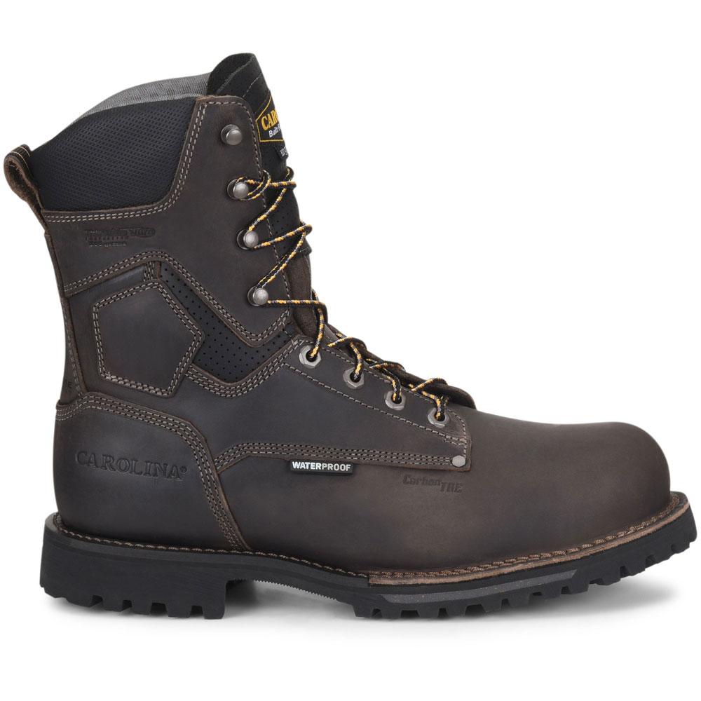 a73b8a7a5d2 Carolina Pitstop 8-Inch Gray WP 800G Comp Toe Work Boot CA8534