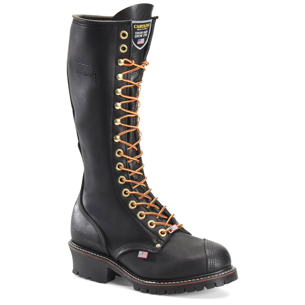 Police Made In USA Dress Uniform Boot Carolina Mens Black Leather Military