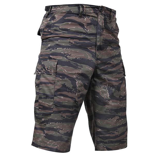 Extra Long Bdu Tiger Stripe Camo Shorts