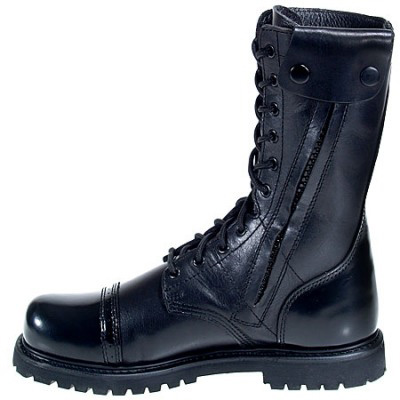 Bates 2184 Enforcer Side Zip Black Paratrooper Boots