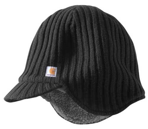 Carhartt Colton Black Sherpa Lined Winter Hat - 100778 7685b56cfb22