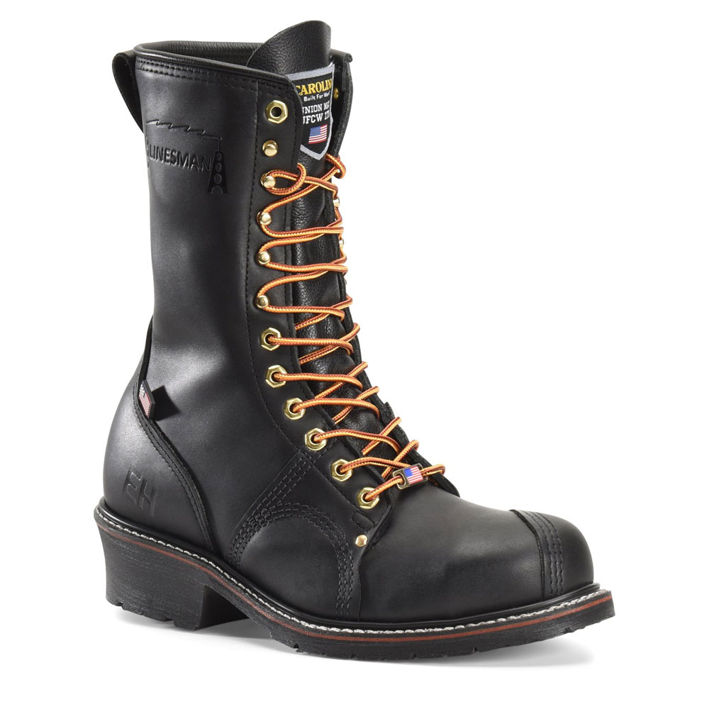 Black 10-inch Steel Toe Linesman Boot