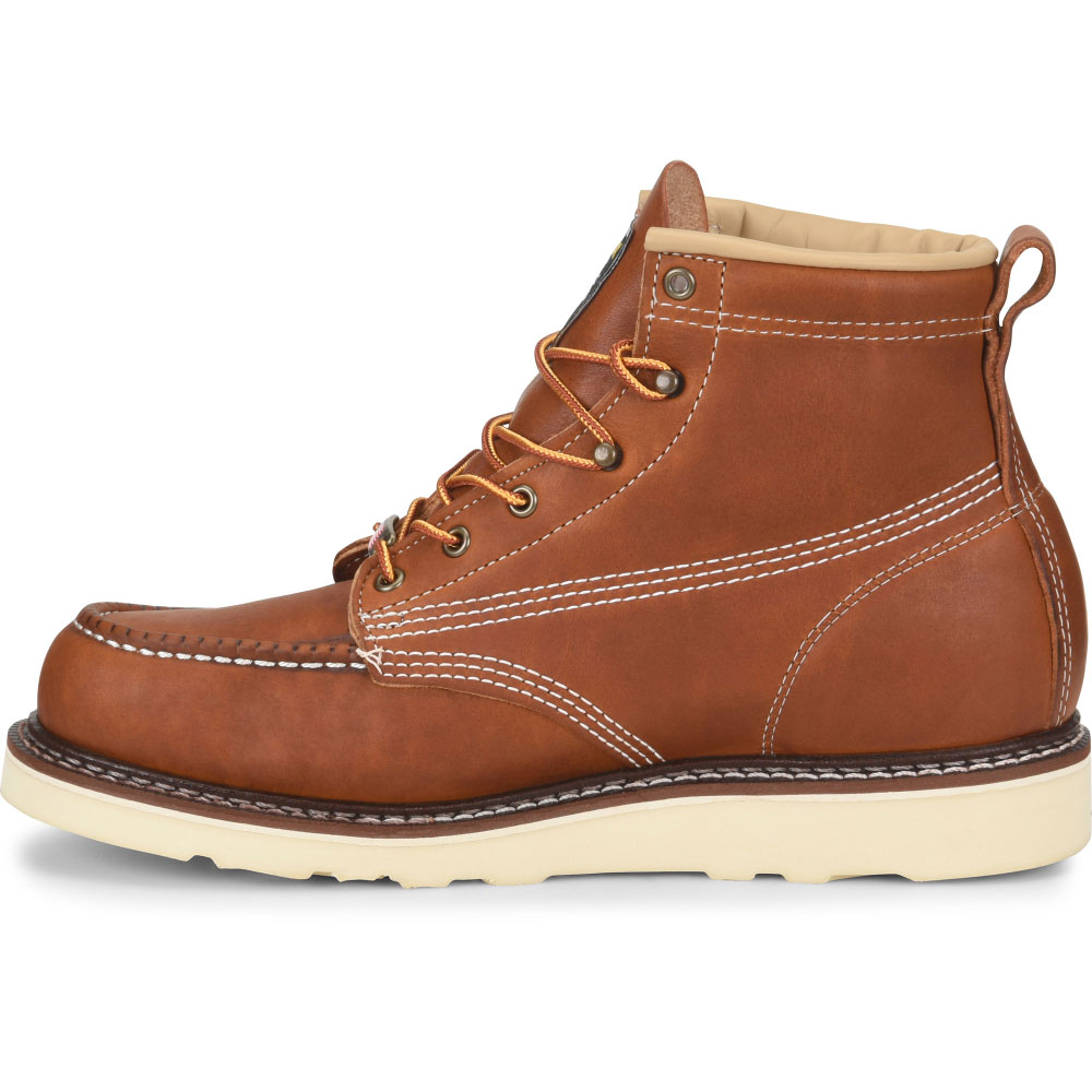 ee081e366be Carolina Amp USA Men's 6-Inch Moc Toe Wedge Work Boot - Made in the USA