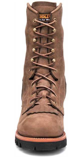 63217bde68a Men's Carolina CA7519: 10-inch Insulated Gore-tex Steel Toe Logger Boot -  Cork Harness