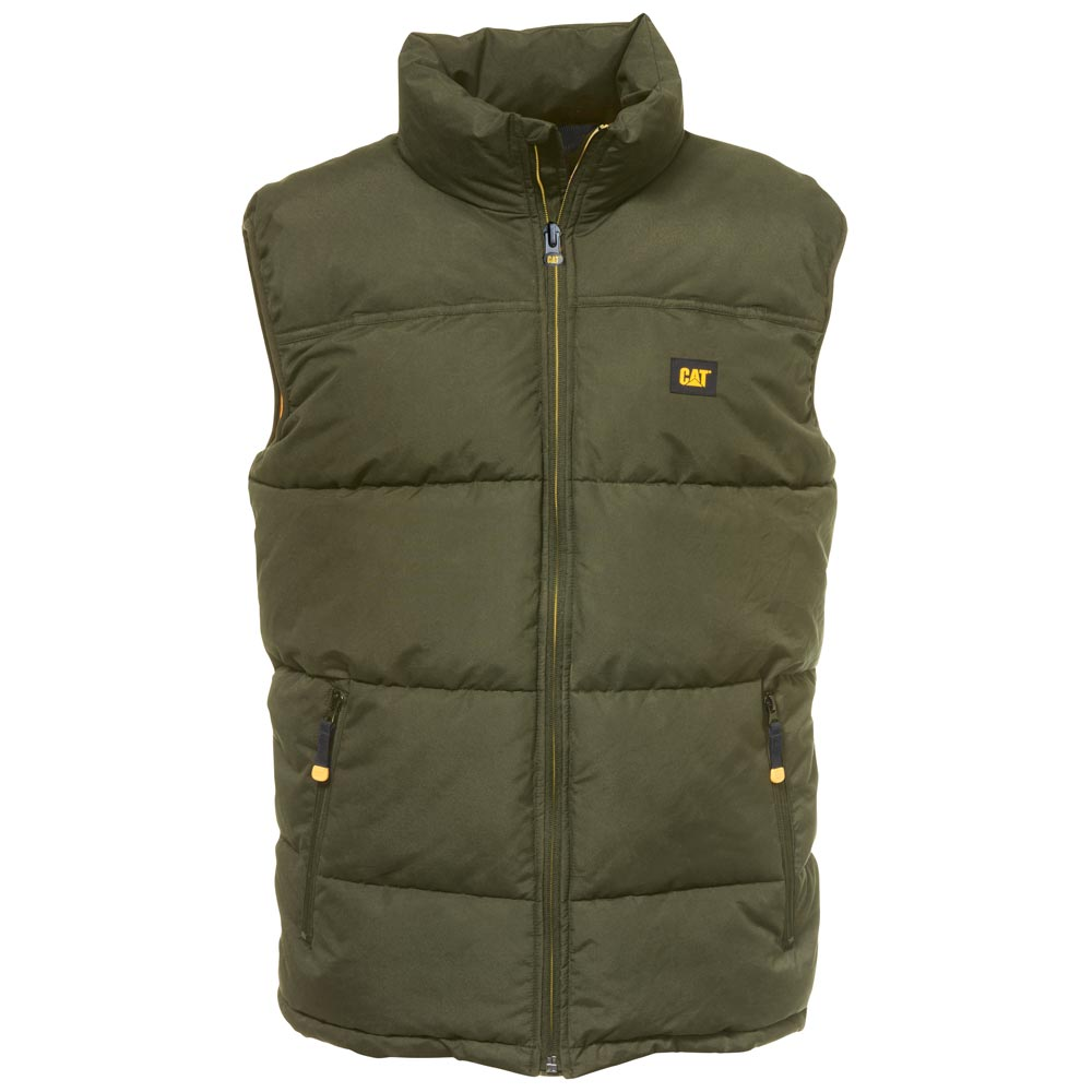 Cat Arctic Zone Army Moss Insulated Winter Vest W12430
